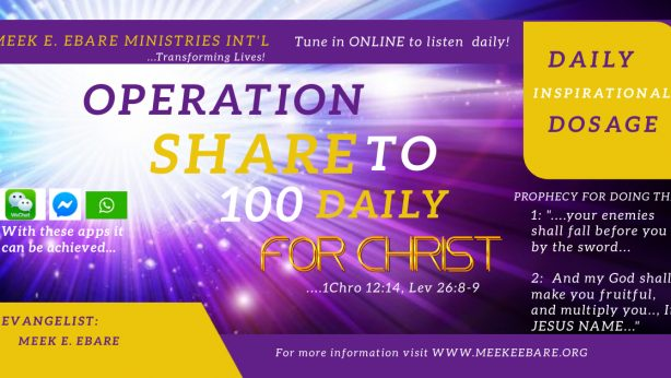 OPERATION SHARE TO 100 DAILY FOR CHRIST